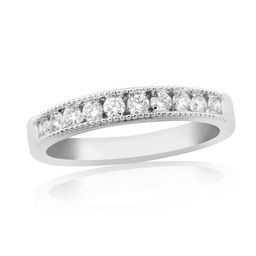 White Gold Diamond Channel Set | Eternity Ring | DR1307W